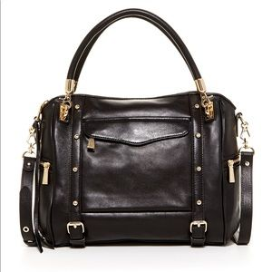 Rebecca Minkoff Cupid Black Satchel Leather Bag